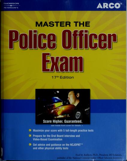 Master the police officer exam by Fred M. Rafilson