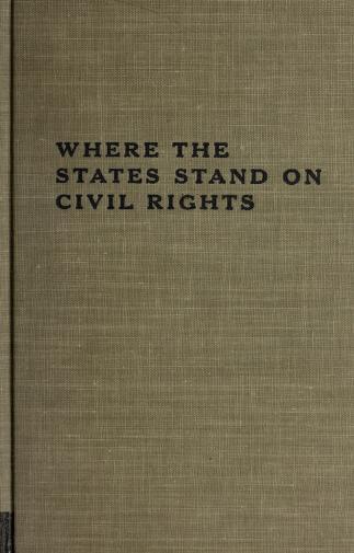 Where the States stand on civil rights by Richard Barnett, Richard Barnett
