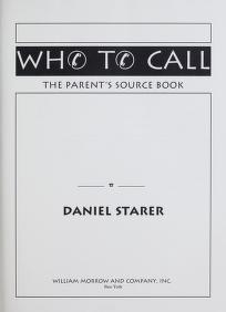 Cover of: Who to call | Daniel Starer