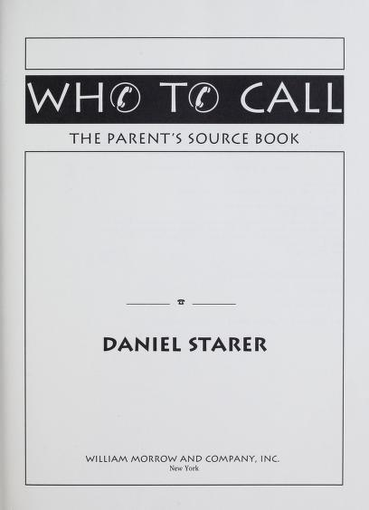 Who to call by Daniel Starer